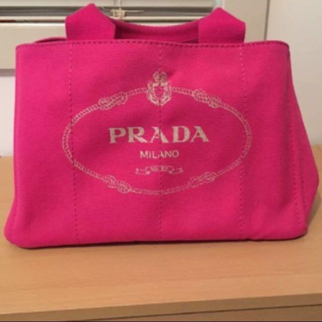 Authentic Prada Canapa Bag