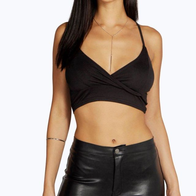 Brand New With Tags Black Boohoo Bralette