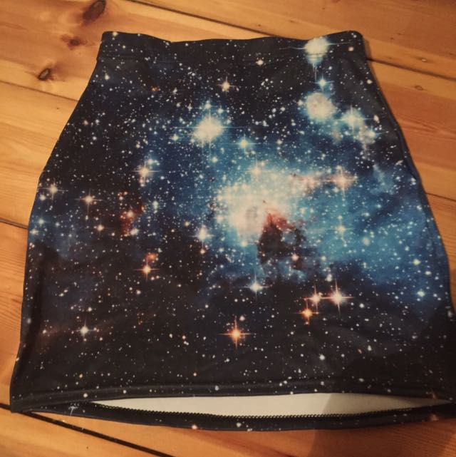 Black Milk Blue Galaxy Skirt Size S