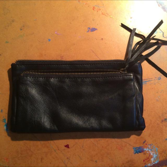 Black Soft Leather Wallet/purse