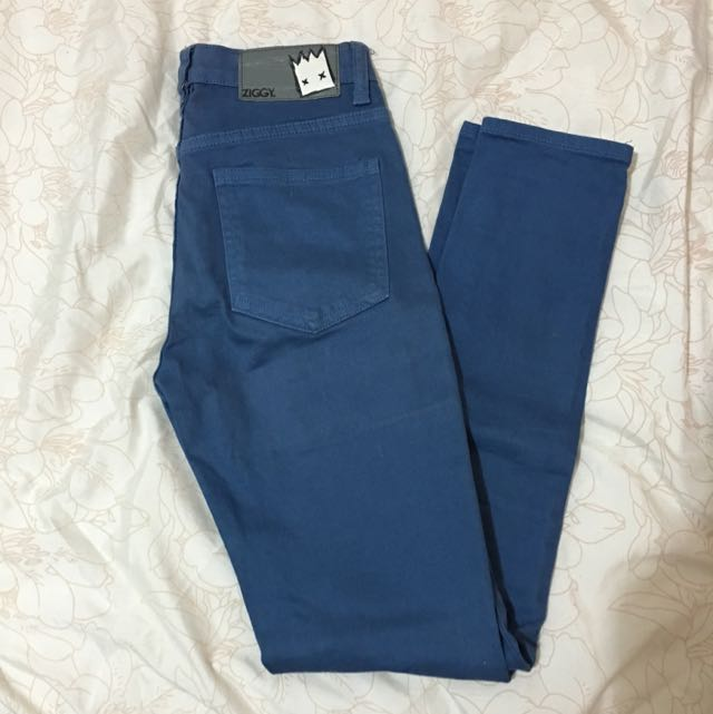 Blue Highwaisted Ziggy Jeans
