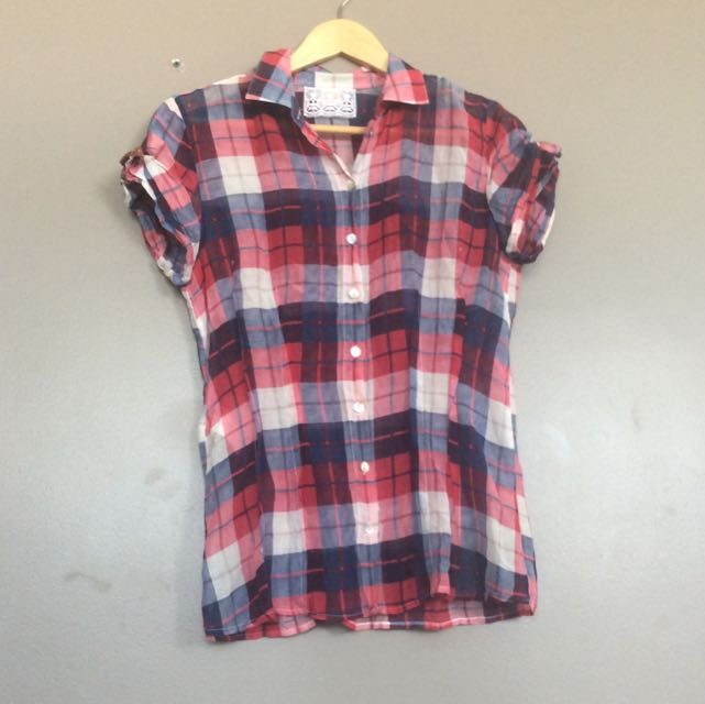 Boss Orange check pattern shirt