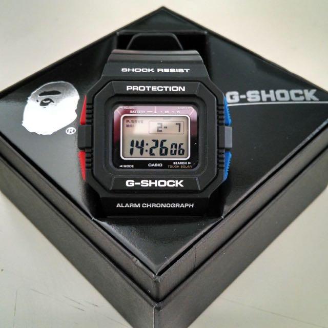 casio g shock g-5500 bape 潮牌聯名錶,限量一千支