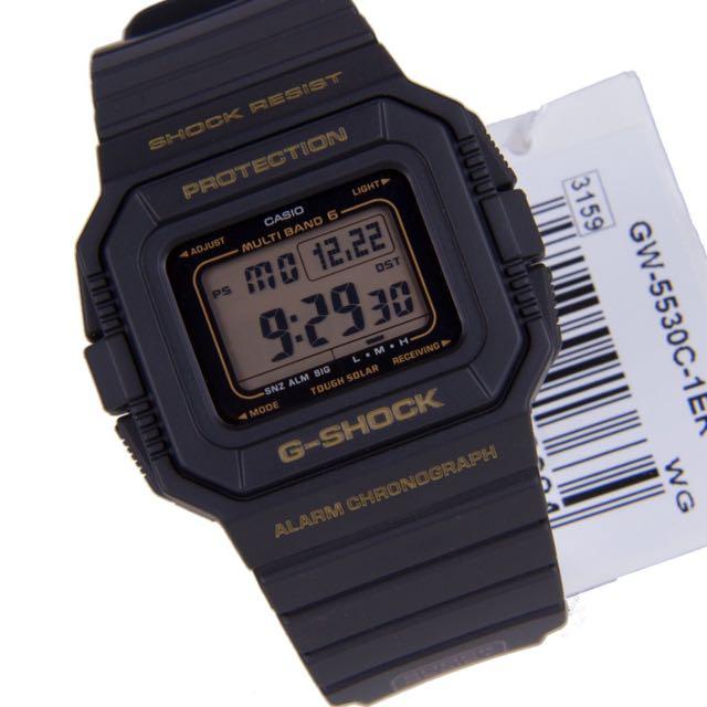 casio g shock gw-5530c 30週年紀念錶,太陽能六局電波