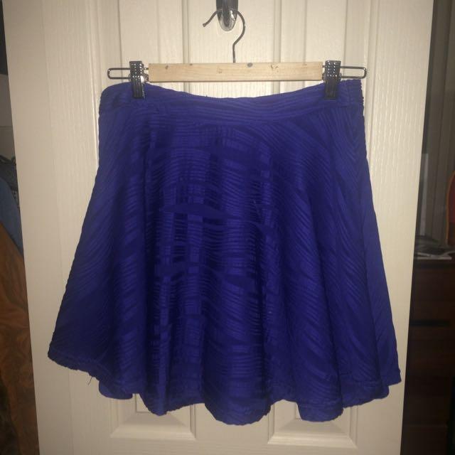 Cobalt Blue Skirt