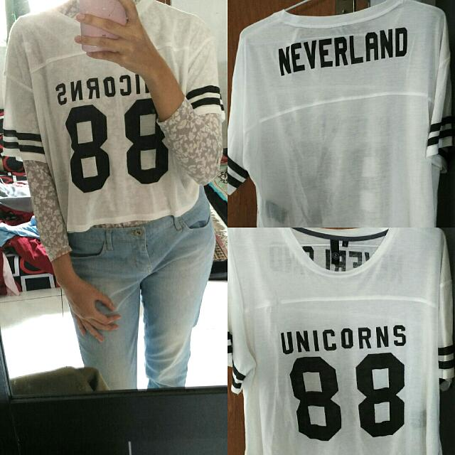 Crop Tee Unicorn
