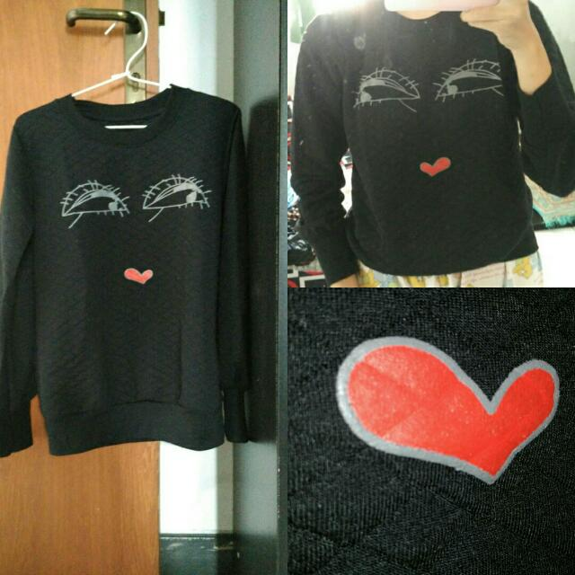 Embossed Black Sweater