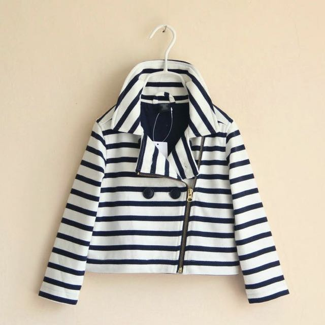 Girls GAP Striped Zip Up Jacket 😍