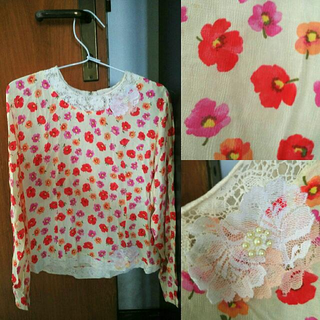 Girly Flower Blouse
