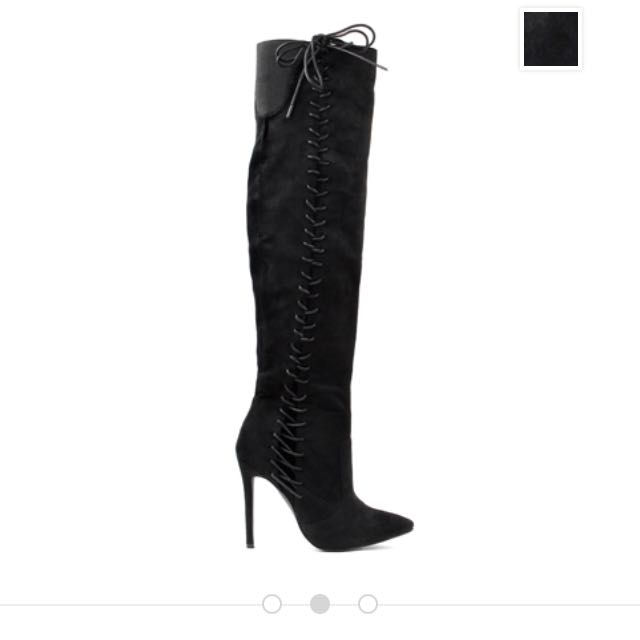 Lace Up Over The Knee Boots Knee High Boots