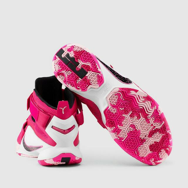 "4ddddff0fe89 SOLD ALREADY(100% Authentic)NIKE LEBRON SOLDIER 9 ""THINK PINK"" Color ..."