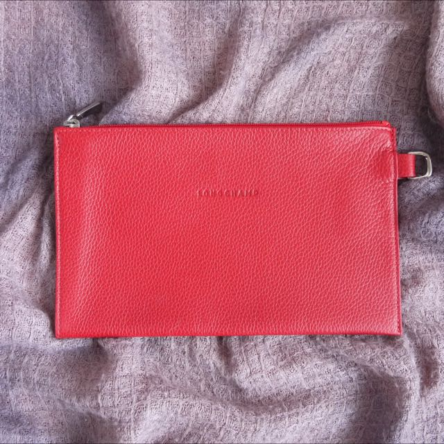 Long Champ Red Pouch