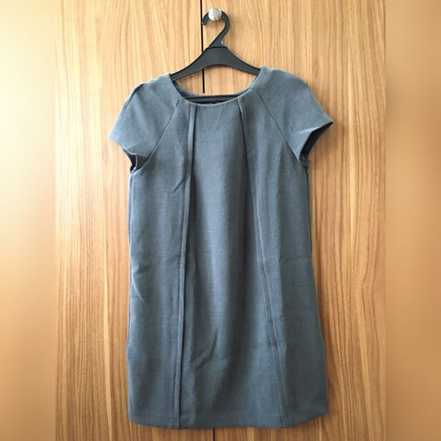 Mango Basic Dress Grey