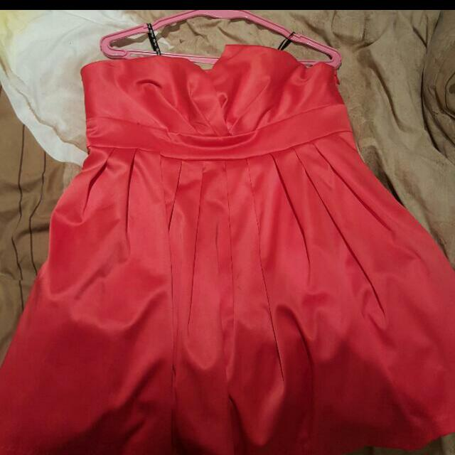 Miss Shop Coral Baby Doll Dress