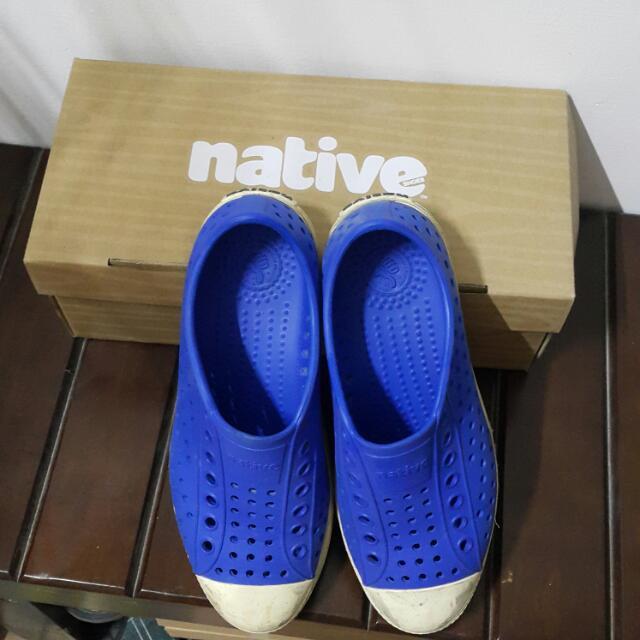 Native藍色防水鞋