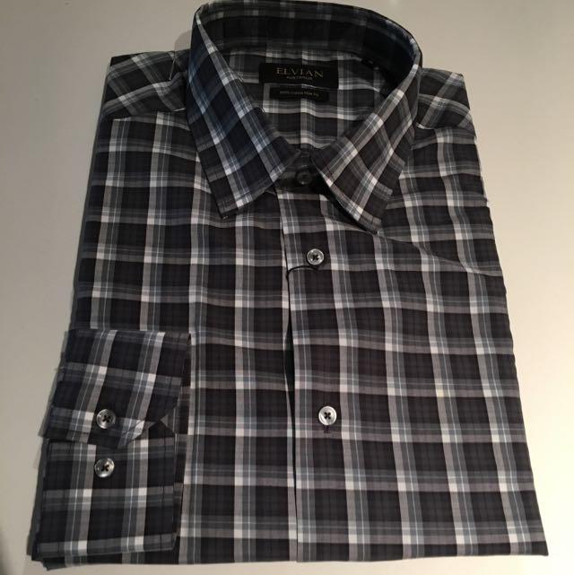 Navy Check Oxford Casual Shirt