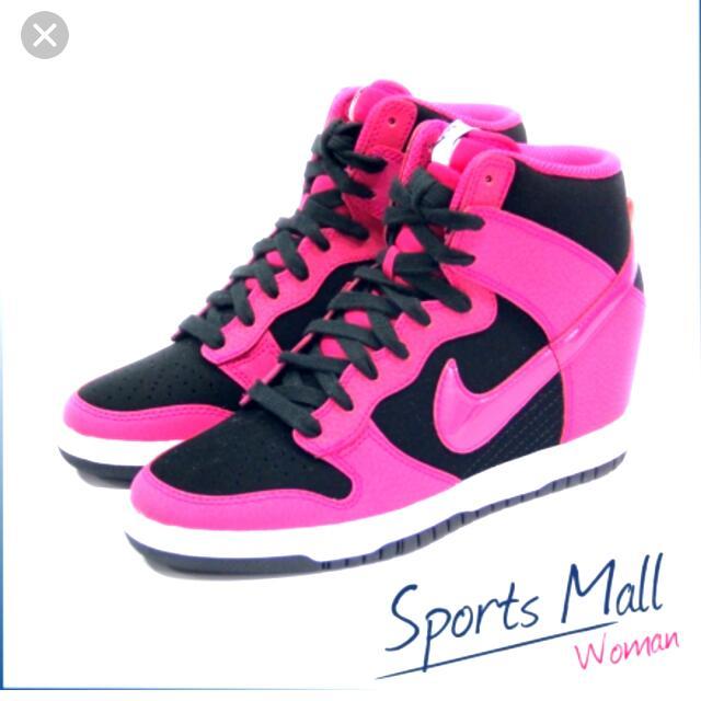 Nike 內增高 黑桃