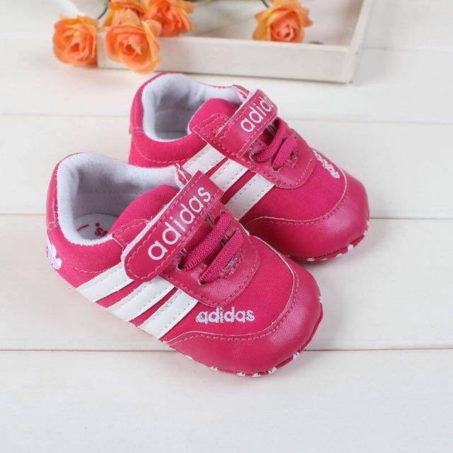 Pink Velcro Adidas Shoes