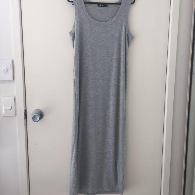 Plain Grey Maxi