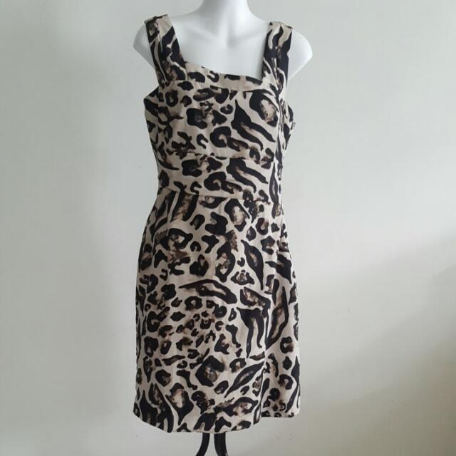 73c341ced1f Preloved Karen Millen Leopard Print Strap Dress UK 12 US 8 EU 40 ...