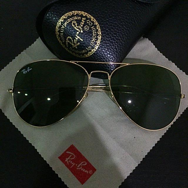 Rayban Aviator Sunglasses Large Metal Gold RB3025