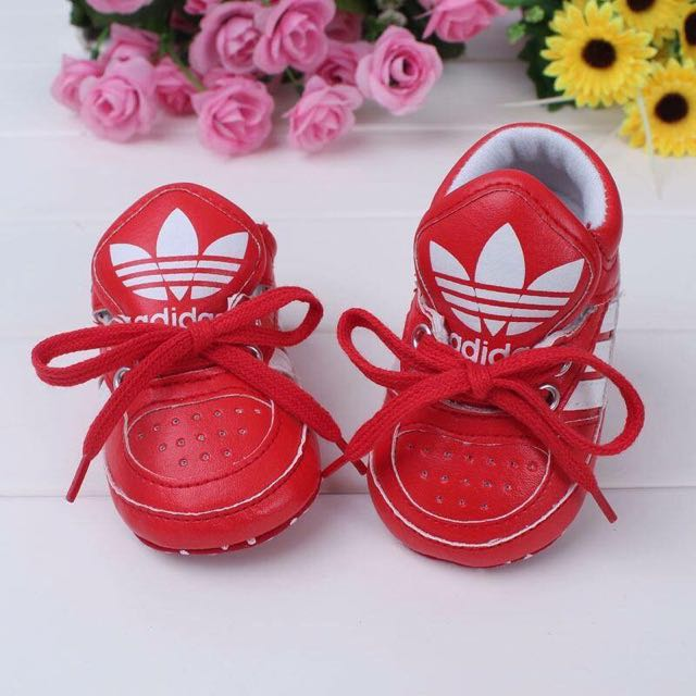 Red Adidas Lace Up Shoes