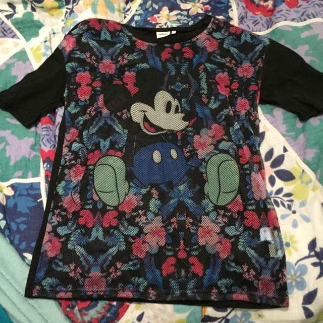 Sheer Mickey Mouse Top