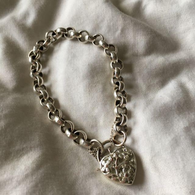 Silver Bracelet With Heart