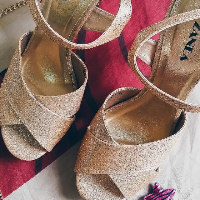 Zanea Glitter High Heels