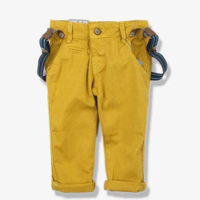 Zara Boys Basics suspender Pants