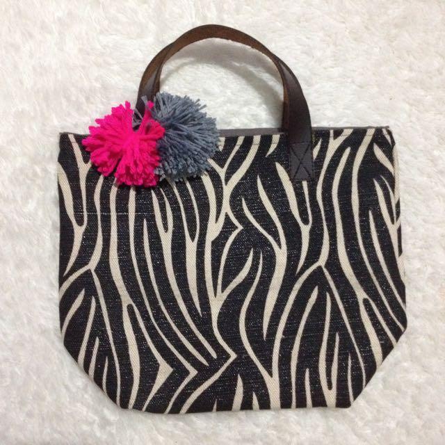 Zebra Small Tote Bag