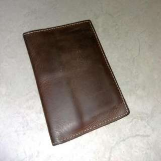 (REPRICE) Leather Passport Wallet - Treeasure
