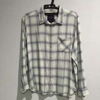 American Eagle Outfitters green flannel