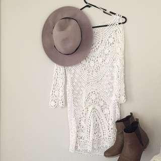 MISHKA CROCHET BEACH DRESS