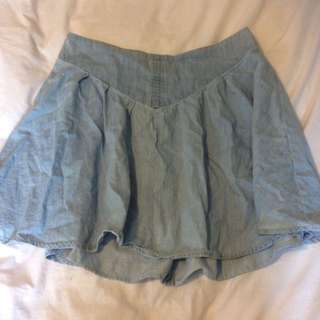 Flowy Denim Like Skirt Sz 10