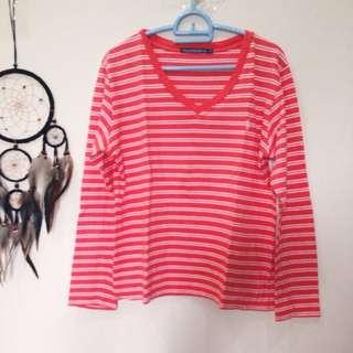 Long Sleeve Polo Stripes Shirt