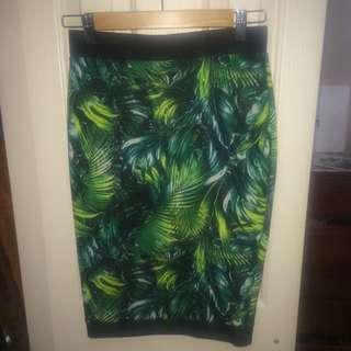 Tight Fern Print Skirt