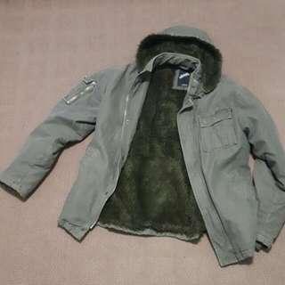 Billabong Mens Herringbone Print Military Jacket