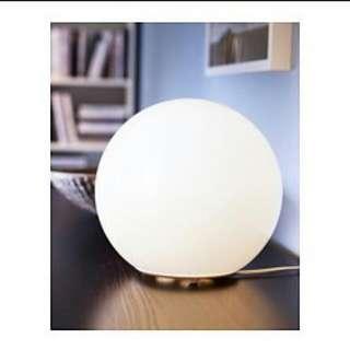 *降價*Ikea宜家家具Fado圓球(附燈泡+調光器)氣氛檯燈桌燈可調節高亮度LED省電燈泡球泡黃光裝飾燈月亮圓形燈環保特力屋