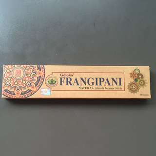 Organic Frangipani Incense Sticks