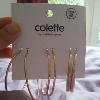 Multipack Rose Gold Hoop Earrings