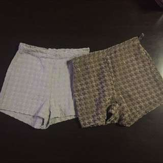 American Apparel Houndstooth Shorts
