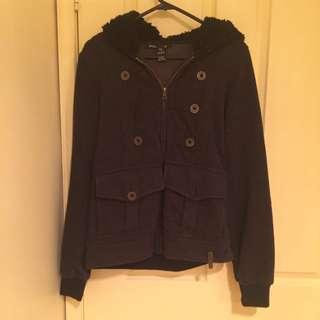 Women's Black Billabong Hooded Jacket