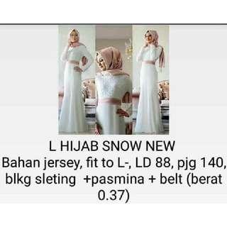 L Hijab Snow New Ket. Foto