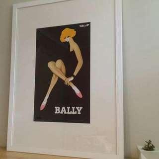 A1 Bally Print Framed