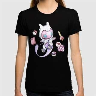 Pokemon Anime Shirt Mew in a Mewtwo Onesie