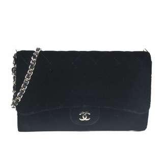 Chanel  Velvet Wallet on Chain 21575027 - Black