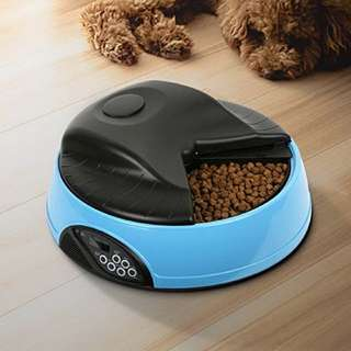 Automatic pet food feeder / dispenser 4 meals with voice recording function / Dog / Cat / Puppy / Kitten