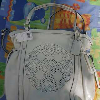 #SpringCleanAndCarousell Coach White Pearl Tote Bag [New With Tags]
