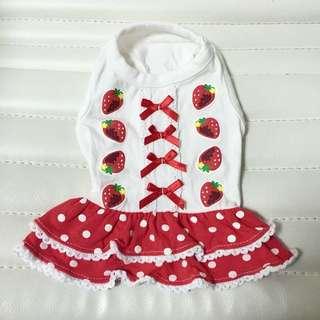 Super Cute Strawberry Dress For Pet